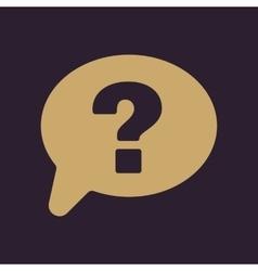 The question mark icon help speech bubble vector