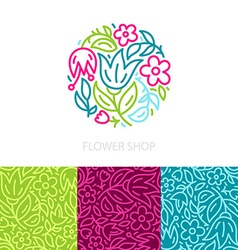 Floral logo vector image