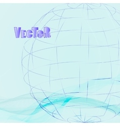 Abstract-grid-globe 02 vector