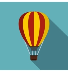 Hot air ballon icon flat style vector