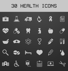 Light healthy and medicare icon set vector image
