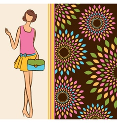 Vintage fashion model vector