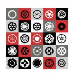 Mosaic of gear vector