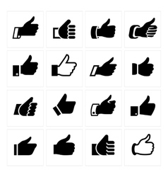 Like set icons vector