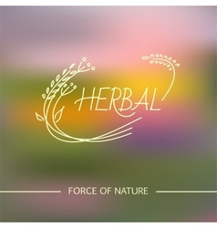 Herbal logo vector