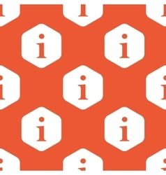 Orange hexagon information pattern vector