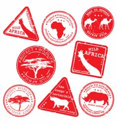 wild Africa stamps vector image