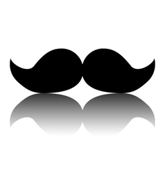 Black moustaches icon vector