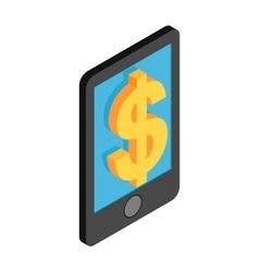 Smartphone with dollar on display vector