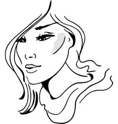 Stylish beautiful model for fashion design vector
