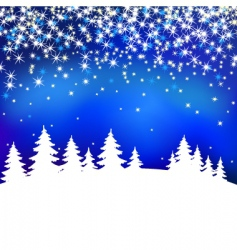 abstract background with winter forest vector image vector image