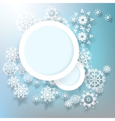 Abstract design snowflakes with copy space EPS 10 vector image vector image
