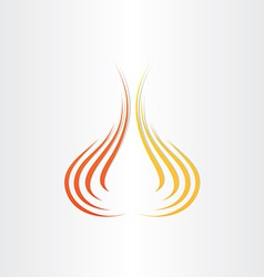 abstract fire symbol background vector image