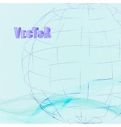 Abstract-grid-globe 02 vector