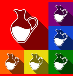 amphora sign set of icons with flat vector image vector image