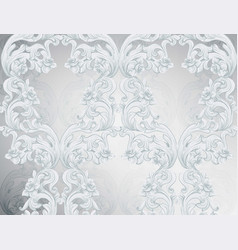 baroque pattern shiny background ornament decor vector image vector image