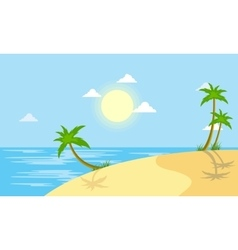 Beach scenery with sun vector image