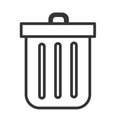 Black and white trash bin graphic vector