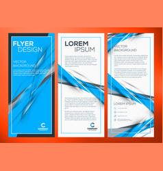 business trifold brochure or banner template vector image