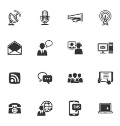 Communicatin Icons - Set 1 vector image vector image