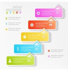 Design business infographics five successive vector
