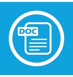 DOC file sign icon vector image vector image