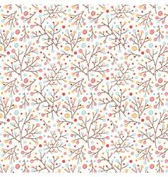Doodle floral pattern vector image vector image
