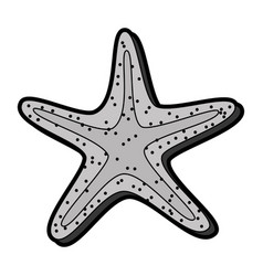 flat starfish cartoon vector image