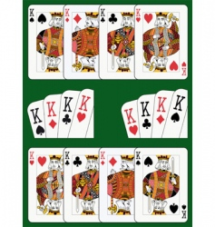 four kings vector image