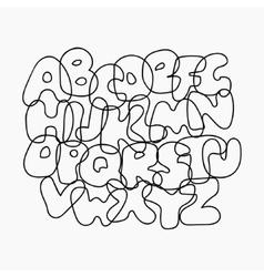 Funny wire alphabet vector