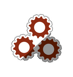 Gears machinery piece vector