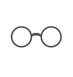 glasses icon flat design vector image