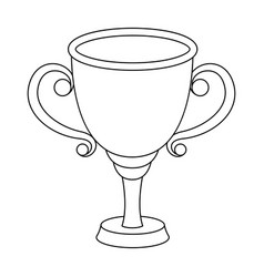 gold cup for the first placethe award winner of vector image vector image