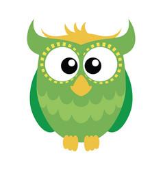 green cartoon owl vector image