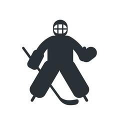 Hockey goalkeeper flat icon vector