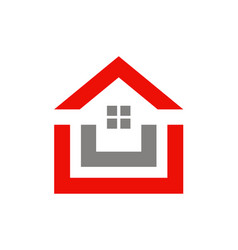 house shape realty logo vector image