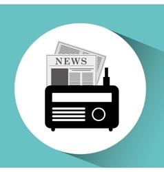 Icon radio news sound design graphic vector