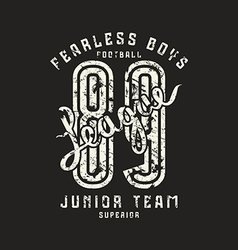 Junior football team emblem in retro style vector
