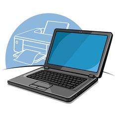 laptop modern computer vector image
