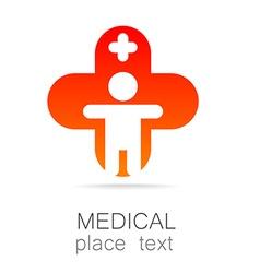 medical cross template logo vector image vector image