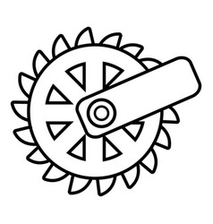 mining cutting wheel icon  outline style vector image