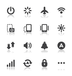 Mobile phone icons for application vector