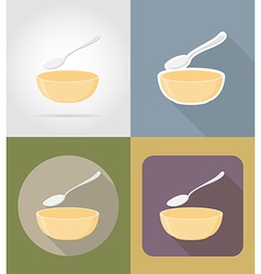 objects for food flat icons 08 vector image vector image