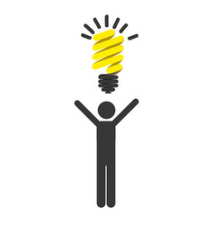 Person with good idea icon vector