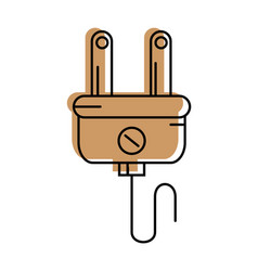 Plug electric isolated vector