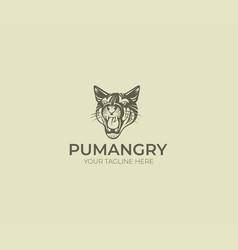 puma logo template vector image