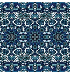 Seamless blue christmas winter gift wrap pattern vector