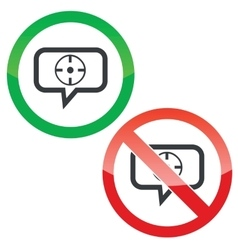 Target message permission signs vector