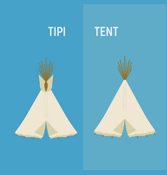 Tourist indian or tipi tents for outdoor vector