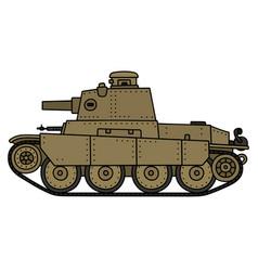 Vintage sand tank vector